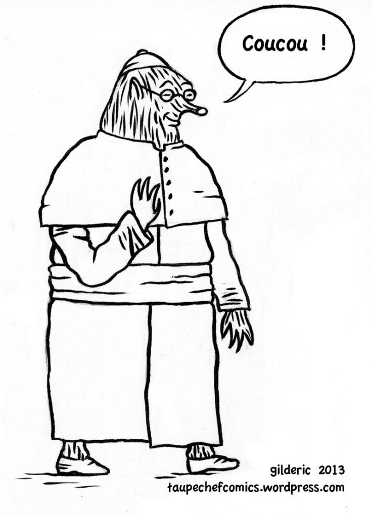 Taupe Chef : Habemus Papam -  dessin de Gilderic