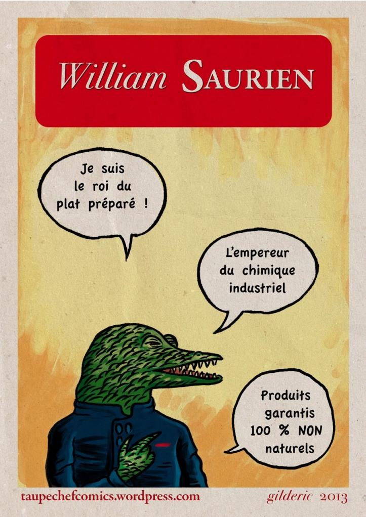 William Saurien, le roi du plat préparé