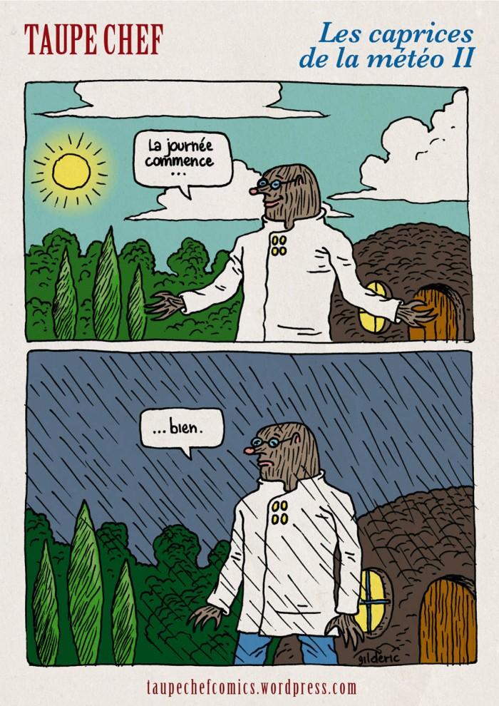 Taupe Chef et les caprices de la météo II - BD strip de Gildéric