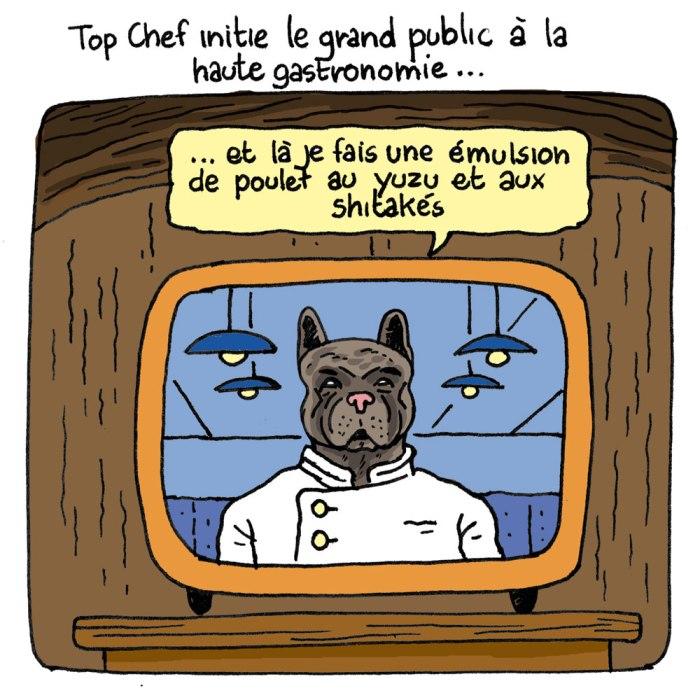 Top Chef vs Réalité (dessin humour, bd case 2)