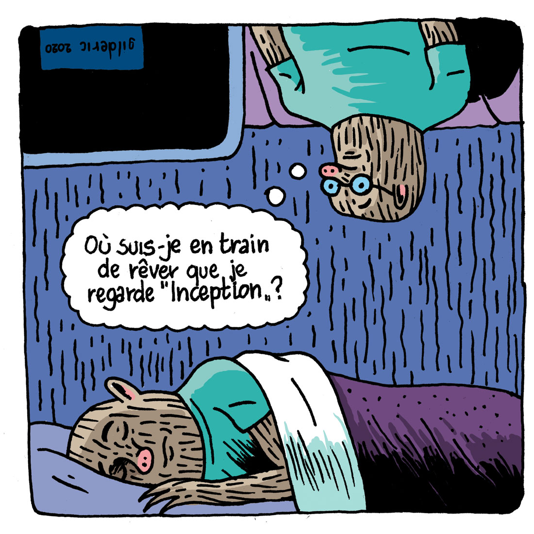 Inception : rêve ou réalité ? case 2 - Strip BD humour